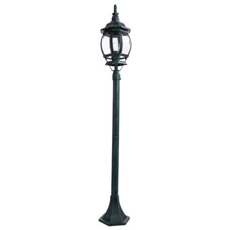 Уличный фонарь Arte Lamp Atlanta A1046PA-1BG, IP21, 1xE27x75W, бирюзовый, прозрачный, металл, ковка, металл со стеклом