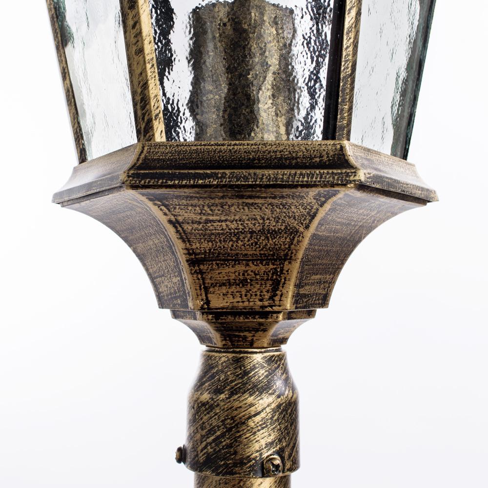 Уличный фонарь Arte Lamp Genova A1206PA-1BN, IP44, 1xE27x75W, черненое золото, прозрачный, черный с золотой патиной, металл, металл со стеклом - фото 3