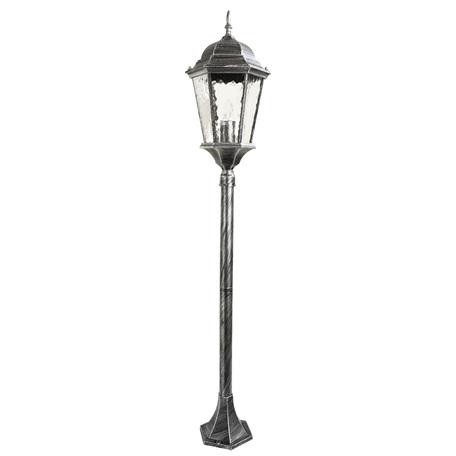 Уличный фонарь Arte Lamp Genova A1206PA-1BS, IP44, 1xE27x75W, серый, черненое серебро, прозрачный, металл, металл со стеклом