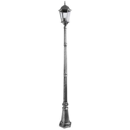 Уличный фонарь Arte Lamp Genova A1207PA-1BS, IP44, 1xE27x75W, серый, черненое серебро, прозрачный, металл, металл со стеклом