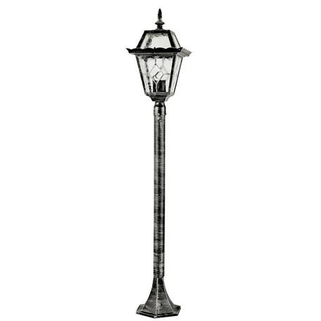 Уличный фонарь Arte Lamp Paris A1356PA-1BS, IP44, 1xE27x75W, черненое серебро, прозрачный, металл, стекло