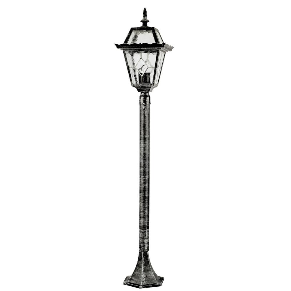 Уличный фонарь Arte Lamp Paris A1356PA-1BS, IP44, 1xE27x75W, черненое серебро, прозрачный, металл, стекло - фото 1