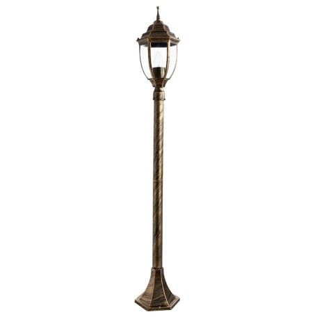 Уличный фонарь Arte Lamp Pegasus A3151PA-1BN, IP44, 1xE27x60W, черненое золото, прозрачный, черный с золотой патиной, металл, металл со стеклом