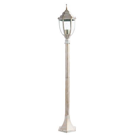 Уличный фонарь Arte Lamp Pegasus A3151PA-1WG, IP44, 1xE27x60W, белый с золотой патиной, прозрачный, металл, металл со стеклом