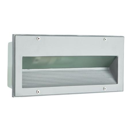 Встраиваемый настенный светильник Arte Lamp Brick A5158IN-1GY, IP54, 1xE27x60W, серый, металл, стекло