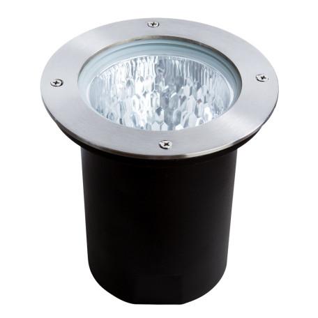 Встраиваемый в уличное покрытие светильник Arte Lamp Piazza A6013IN-1SS, IP65, 1xE27x75W, серебро, металл, стекло