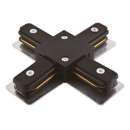 X-образный соединитель для шинопровода Arte Lamp Instyle A110006, черный, пластик