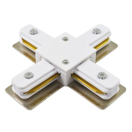 X-образный соединитель для шинопровода Arte Lamp Instyle A110033, белый, пластик