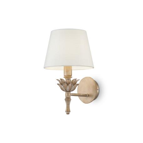 Бра Maytoni Classic House Barbara H003WL-01MG, 1xE14x40W, матовое золото, белый, металл, текстиль