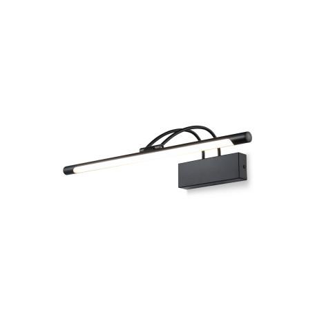 Настенный светодиодный светильник для подсветки картин Maytoni Finelli MIR004WL-L12B, LED 12W, 3000K (теплый), черный, белый, металл, пластик