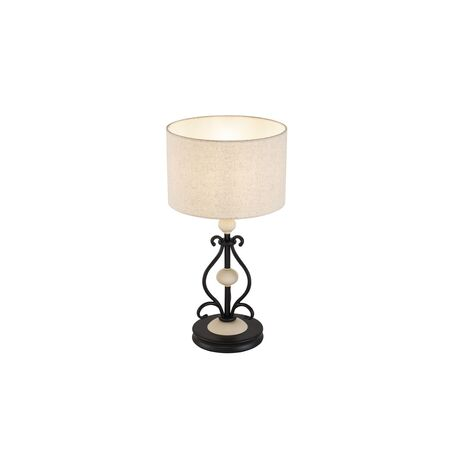 Настольная лампа Maytoni Classic Elegant Karina H631-TL-01-B, 1xE14x40W, черный, бежевый, металл с пластиком, текстиль