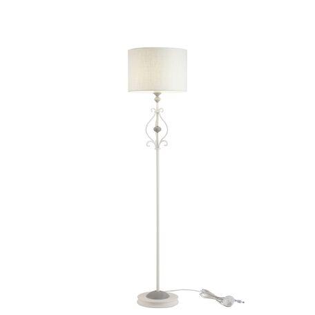Торшер Maytoni Karina ARM631FL-01-W, 1xE27x40W, белый, серый, металл, пластик, текстиль