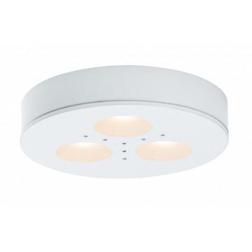 Мебельный светодиодный светильник для встраиваемого или накладного монтажа Paulmann Micro Line LED Plane 92586, LED 3W, белый, металл