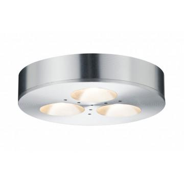 Мебельный светодиодный светильник для встраиваемого или накладного монтажа Paulmann Micro Line LED Plane 92587, LED 3W, алюминий, металл