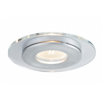 Встраиваемый светильник Paulmann Premium EBL Single Shell 92726, IP23, 1xGU10x50W, алюминий, прозрачный, металл со стеклом