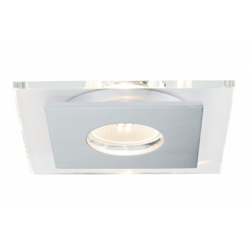 Встраиваемый светильник Paulmann Premium EBL Single Layer 92727, IP23, 1xGU10x50W, алюминий, прозрачный, металл со стеклом