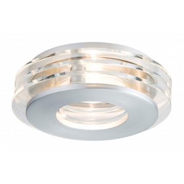 Встраиваемый светильник Paulmann Premium EBL Shell 92728, IP23, 1xGU10x50W, алюминий, металл со стеклом