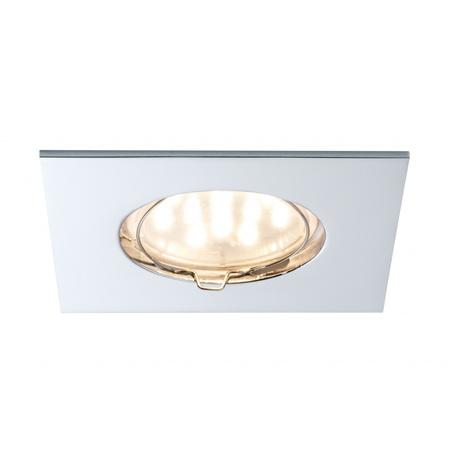 Встраиваемый светодиодный светильник Paulmann Premium Line LED 230V Coin 51mm 92763, IP44, LED 6,8W, хром, металл
