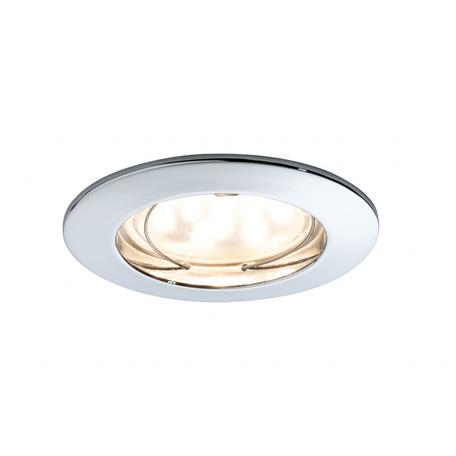 Встраиваемый светодиодный светильник Paulmann Premium Line LED 230V Coin 51mm 92813, IP44, LED 7W, хром, металл