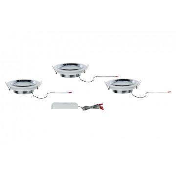 Встраиваемая светодиодная панель Paulmann Premium Line Dot dimmable 92693, LED 8W, хром, белый, металл со стеклом