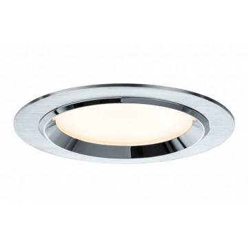 Встраиваемая светодиодная панель Paulmann Premium Line Dot dimmable 92694, LED 8W, хром, алюминий, металл со стеклом