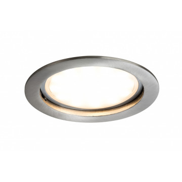 Встраиваемая светодиодная панель Paulmann Premium Line LED 230V Coin 75mm 92787, IP44, LED 14W, металл