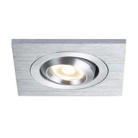 Встраиваемый светодиодный светильник Paulmann Premium Line LED DrilLED Alu Duo 92524, IP23, LED 3W, металл