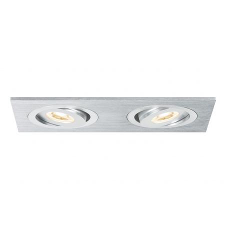 Встраиваемый светодиодный светильник Paulmann Premium Line LED Drilled Alu Duo 92537, IP23, LED 6W, металл
