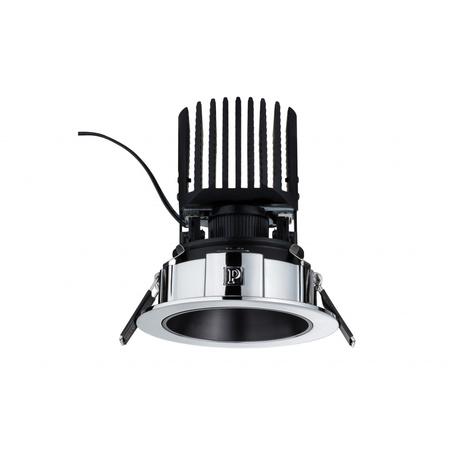 Встраиваемый светодиодный светильник Paulmann Luca 92651, IP44, LED 12,6W, хром, металл