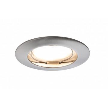 Встраиваемый светодиодный светильник Paulmann Premium Line LED 230V Coin Satin 51mm 92722, IP44, LED 6,8W, металл