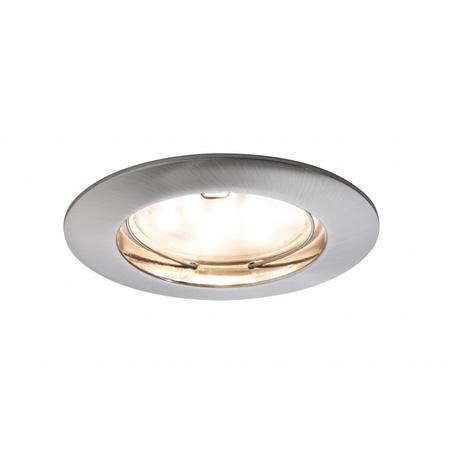 Встраиваемый светодиодный светильник Paulmann Premium Line LED 230V Coin 51mm 92757, IP44, LED 6,8W, матовый хром, металл