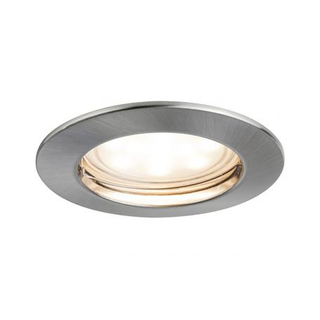 Встраиваемый светодиодный светильник Paulmann Premium Line LED 230V Coin Satin 51mm 92805, IP44, LED 6,8W, металл