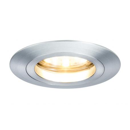 Встраиваемый светодиодный светильник Paulmann Premium Line LED 230V Coin 51mm 92808, IP44, LED 7W, алюминий, металл
