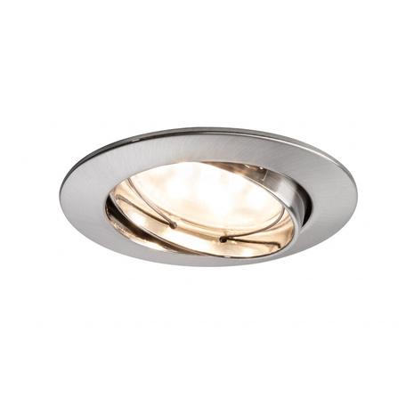 Встраиваемый светодиодный светильник Paulmann Premium Line LED 230V Coin 51mm 92819, IP23, LED 7W, металл