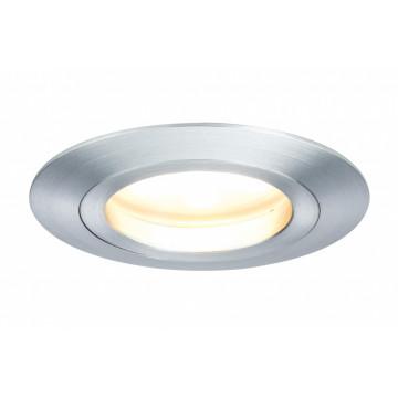 Встраиваемый светодиодный светильник Paulmann Premium Line LED 230V Coin Satin 51mm 92825, IP44, LED 7W, алюминий, металл