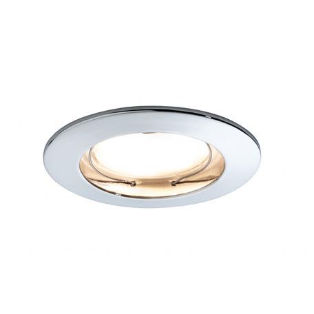Встраиваемый светодиодный светильник Paulmann Premium Line LED 230V Coin Satin 51mm 92828, IP44, LED 7W, хром, металл