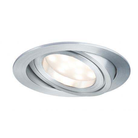 Встраиваемый светодиодный светильник Paulmann Premium Line LED 230V Coin Satin 51mm 92833, IP23, LED 7W, металл
