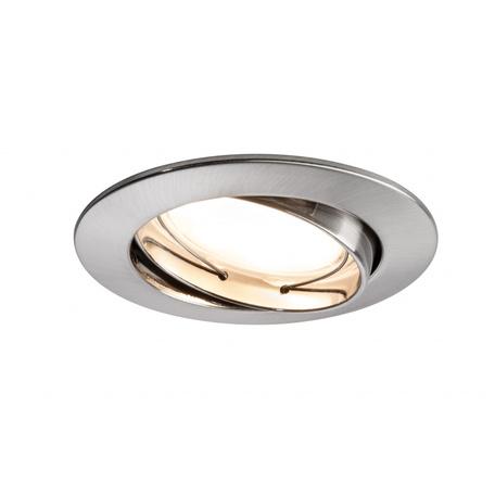 Встраиваемый светодиодный светильник Paulmann Premium Line LED 230V Coin Satin 51mm 92835, IP23, LED 7W, металл
