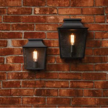 Настенный фонарь Astro Richmond 1340001 (7270), IP44, 1xE27x60W, черный, прозрачный, стекло - миниатюра 2