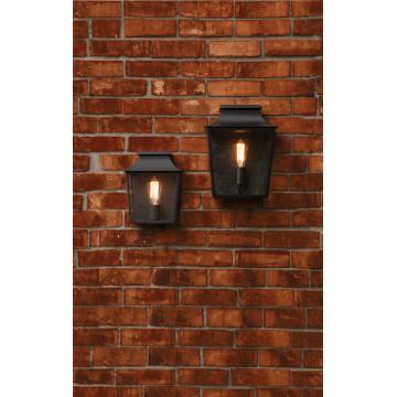 Настенный фонарь Astro Richmond 1340001 (7270), IP44, 1xE27x60W, черный, прозрачный, стекло - миниатюра 3