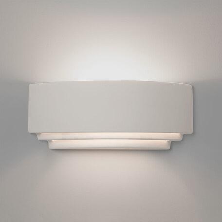 Настенный светильник Astro Amalfi 1079004 (7470), 1xE27x60W, белый, под покраску, керамика