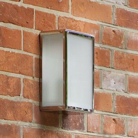 Настенный светильник Astro Homefield Frosted 1095009 (7083), IP44, 1xE27x60W, хром, стекло