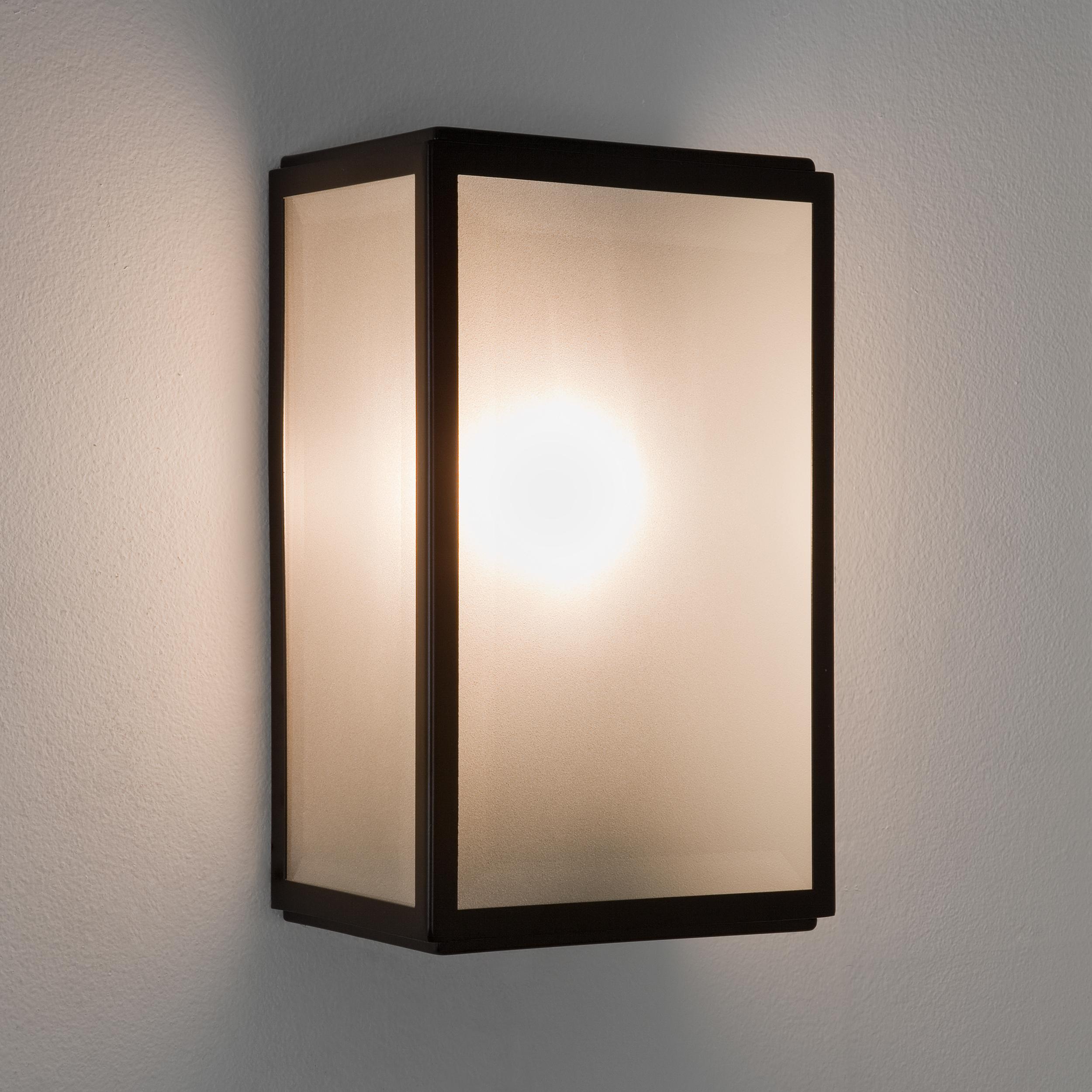 Настенный светильник Astro Homefield 1095011 (7266), IP44, 1xE27x60W, черный, стекло - фото 1