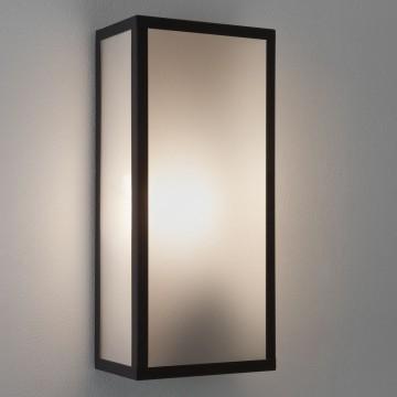 Настенный светильник Astro Messina Frosted 1183003 (7187), IP44, 1xE27x60W, черный, стекло