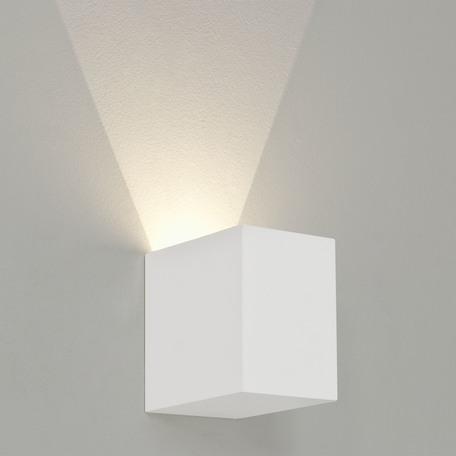 Настенный светодиодный светильник Astro Parma 1187004 (7019), LED 3,98W 3000K 104.3lm CRI80, белый, под покраску, гипс