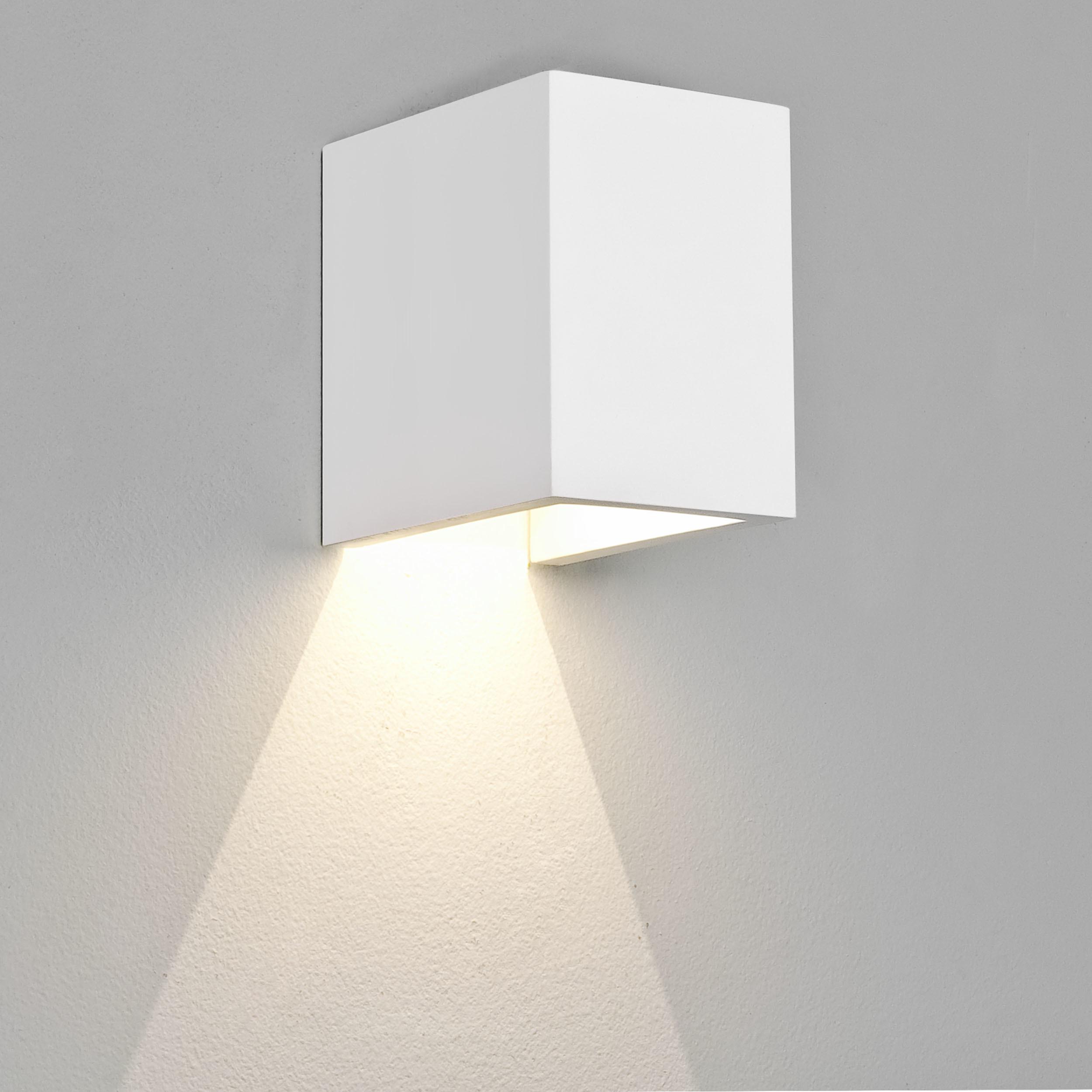 Настенный светодиодный светильник Astro Parma 1187004 (7019), LED 3,98W 3000K 104.3lm CRI80, белый, под покраску, гипс - фото 2