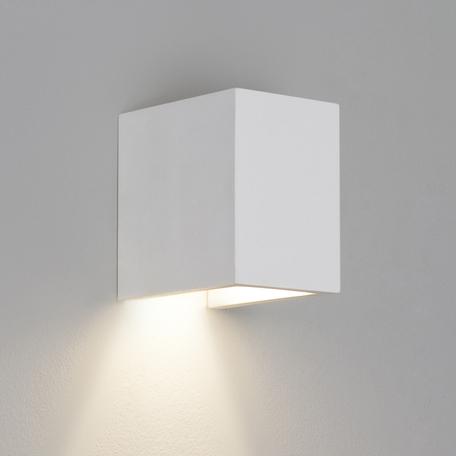 Настенный светильник Astro Parma 1187009 (7076), 1xGU10x50W, белый, под покраску, гипс