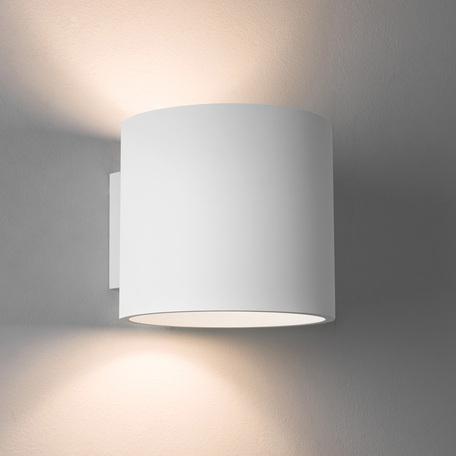 Настенный светильник Astro Brenta 1195003 (7261), 1xE27x60W, белый, под покраску, металл, гипс