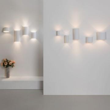 Настенный светильник Astro Brenta 1195003 (7261), 1xE27x60W, белый, под покраску, металл, гипс - миниатюра 8