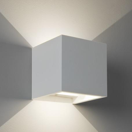 Настенный светодиодный светильник Astro Pienza 1196002 (7152), LED 6,24W 3000K 198.7lm CRI80, белый, под покраску, гипс